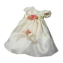 KID Collection Baby-Girls Flower Princess Dress 6M Sm Ivory (Kid B776)