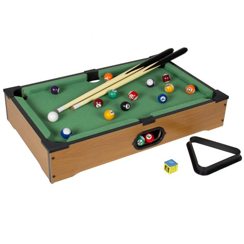 mini pool table game table top with accessories board games billiards set sporting goods indoor. Black Bedroom Furniture Sets. Home Design Ideas