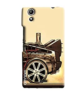 Omnam Car Back Painted Effect Printed Designer Back Cover Case For Micromax Selfie 2 Q340