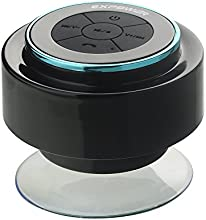 Expower IPX7 Wasserdicht Bluetooth Stereo Lautsprecher Duschen Lautpsrecher für Smartphone, Integrierte Mikrofon,3.5mm AUX in schwarz mit blau