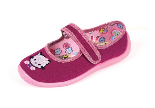 Nazo - Ballerine da bambina, in tela, motivo: Hello Kitty, colore: bordeaux - 41 1/3 EU - Bordeaux