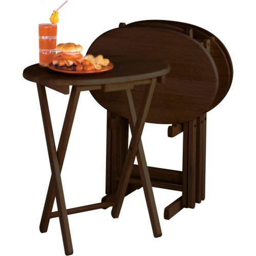Buy Low Price Set Of 4 Solid Wood Tv Dinner Tray Tables
