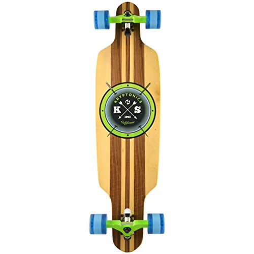 Kryptonics - Longboard 38 pollici Drop Through Skateboarding Skate, per esterni Board, Sport & tempo libero - Cast Off