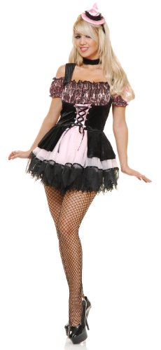 Charades Women's Pretty Pink Witch Costume