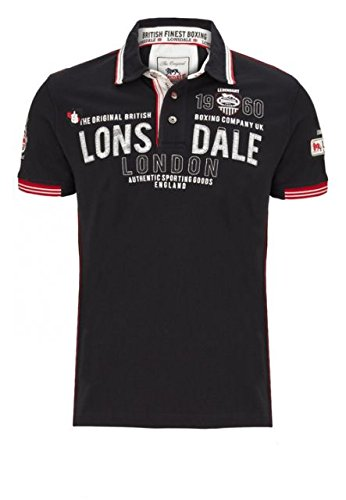 Lonsdale SELLINDGE Polo da uomo Slim Fit Polo Shirt - black nero M