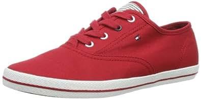 Tommy Hilfiger VICTORIA 1D FW56816883, Damen Sneaker, Rot (TANGO RED 611), EU 36