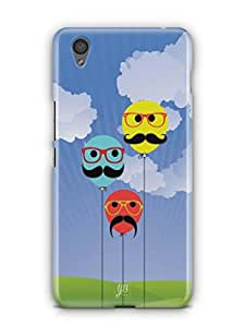 YuBingo Balloons with Moustaches Mobile Case Back Cover for OnePlus X