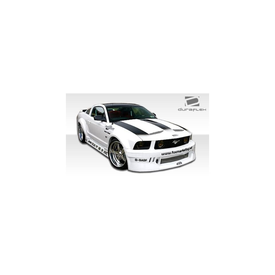 2005 2009 Ford Mustang Duraflex Hotwheels Wide Body Kit   Includes Hot Wheels Widebody Front Bumper (100652), Rear Bumper (100654), Sideskirts (100656), Front Fenders (100653), and Rear Fender Flares (100655).