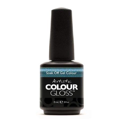 Artistic Nail Design Colour Gloss Blue Gel Sparkle Polish 03001 Avante-Garde