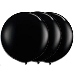 36 Inch Latex Balloon Black (Premium Helium Quality) Pkg/3 by PMU