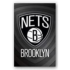 Buy Brooklyn Nets Logo Basketball Poster by Trends International