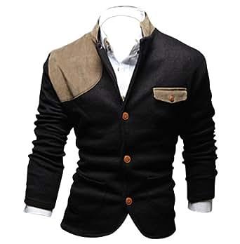 Tom's Ware Premium-Trois Boutons Cardigan Homme TWC002-BLACK-XL (US L)