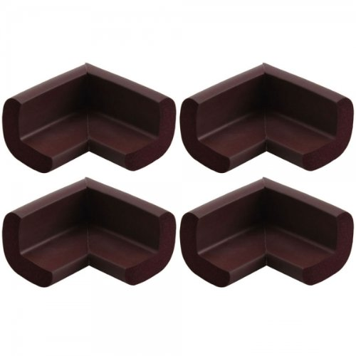 4 Pcs 12Mm Nbr Baby Safe Cushion Protector Coffee Lionheart Corner Guards 25001183 front-316049