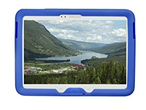 Bobj Rugged Case for Samsung Galaxy Tab 3 10.1 Tablet, Models GT-P5200, GT-P5210, GT-P5220 - BobjGear protective cover (Batfish Blue)