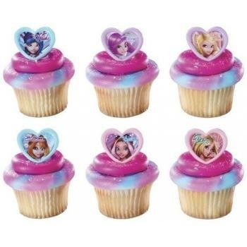 DecoPac Winx Club Fairy Magic Cupcake Rings (12 Count)