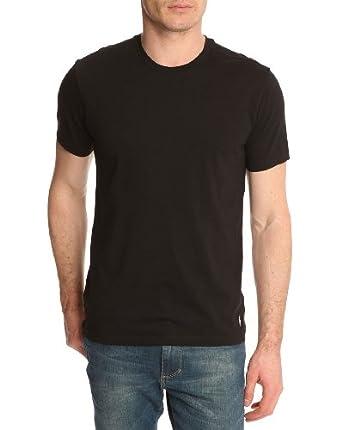 Polo Ralph Lauren Homme 2 Pack Crew T-Shirts, Noir, Small