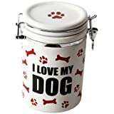 "DEI Stoneware Just Dogs Collection ""I Love My Dog"" Treat Jar"