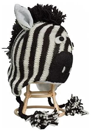 Knitting Pattern For Zebra Hat : Amazon.com: Zebra Hat: Novelty Knit Caps: Sports & Outdoors