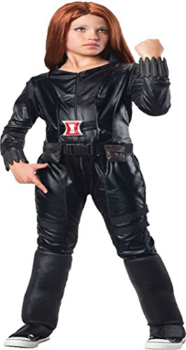 Girls Black Widow Deluxe Kids Child Fancy Dress Party Halloween Costume