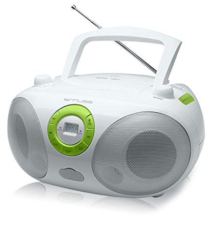 Muse M-25RDW Radio CD/mp3 USB Tuner FM/MW Blanc/Vert