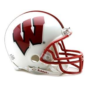 NCAA Wisconsin Badgers Replica Mini Football Helmet