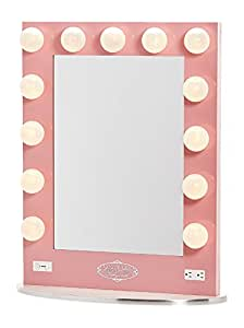 Amazon.com - Broadway Lighted Vanity Mirror - Gloss Pink