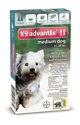 Advantix II Topical Prevention and Treatment of Ticks and Fleas for Medium Dogs 11 - 20 Lbs 2 Month (Advantage Ii For Dogs Small compare prices)