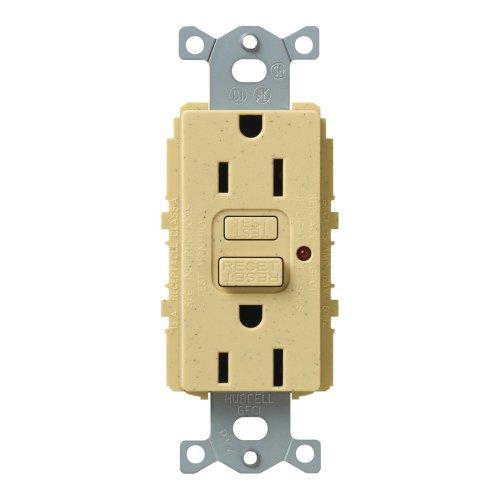 Lutron Scr-15-Gftr-Gs Satin Colors 15A Gftr Electrical Socket Receptacle, Goldstone