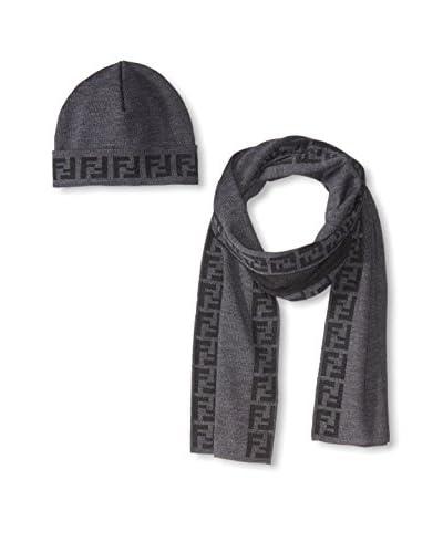 Fendi Women's Scarf & Hat Set, Anthracite