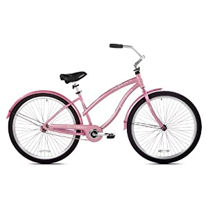 Giordano Women's Liscio Beach Cruiser Bike (Pink, 29-Inch)
