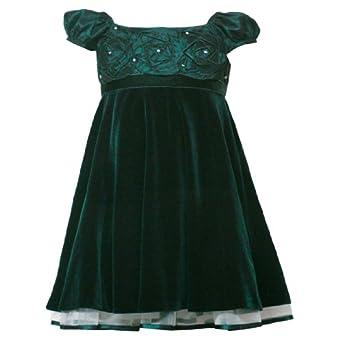 Amazon.com: Rare Editions Little Girl 4-6X HUNTER-GREEN VELVET TAFFETA
