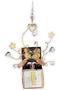 Pilgrim Imports 3D Baby Girl Box Metal Fair Trade Ornament