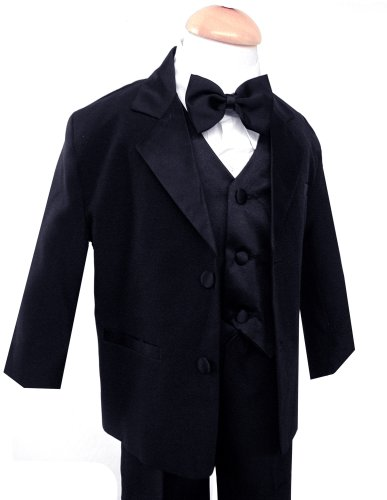 Gino Usher Baby Boy Black Tuxedo Size Medium 6-12 Month