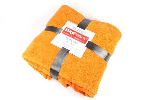 BigBeany flauschige Premium-Kuschel-Decke, Mikrofaser in Orange