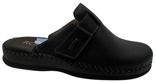 Scarpe da Uomo Pantofole Robert Ciabatte in Vera Pelle Cucita a Mano Made in Italy (40)