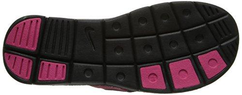 Nike Womens Comfort Thong Sandal (8, Black/Vivid Pink/White)