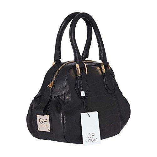 Gian Franco Ferre borsa donna in vera pelle nero custodia X118