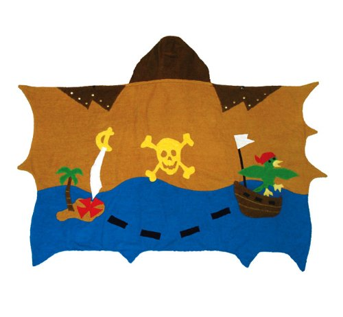 Kidorable Pirate Infant Towel, Brown, 0-3 Years
