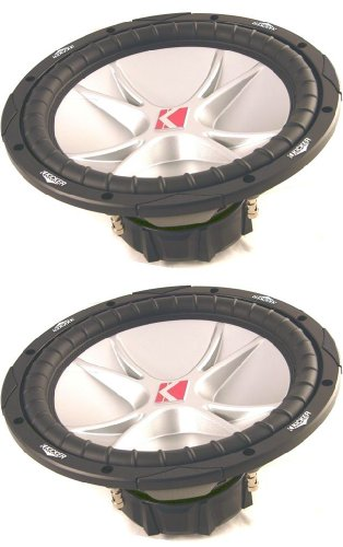 "PAIR OF BRAND NEW KICKER 07CVR12-4 COMP VR SERIES 12"" 4 OHM 1600 WATT DUAL VOICE COIL CAR SUBWOOFERS"