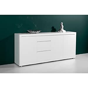 fino high gloss white sideboard with 3 doors 1344 84. Black Bedroom Furniture Sets. Home Design Ideas