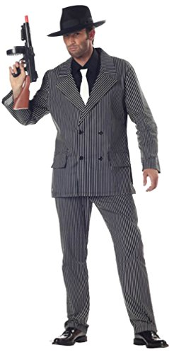 California Costumes Mens Gangster With Dickey Theme Party Fancy Dress