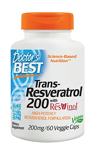 Doctor's Best Best Trans-resveratrol 200 Featuring Resvinol-25 (200 mg), 60-Count