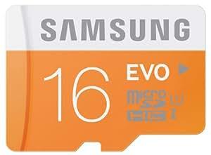 Samsung Memory 16GB EVO MicroSDHC UHS-I Grade 1 Class 10 Speicherkarte Memory Card (bis zu 48MB/s Transfergeschwindigkeit) ohne SD Adapter