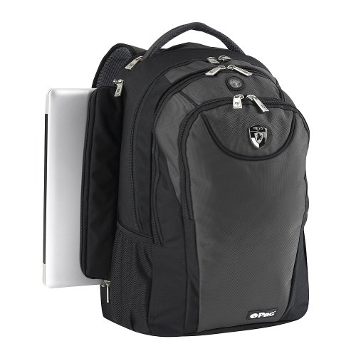 Heys USA Boys Girls Grey 14 Inch Padded Combination Laptop Backpack