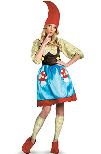 Mememall Fashion Ms. Gnome Adult Costume (Ms Gnome Deluxe Adult Costume)