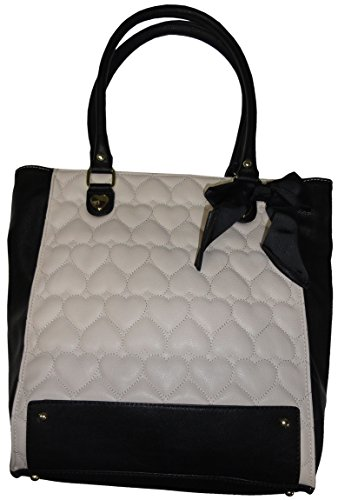 Betsey Johnson Be Mine Tote Black White front-967464