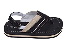 Brand New Toddlers Thong-Style Black Sandals Size 8