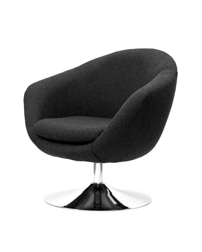 Overman International Disc Base Comet Chair, Black