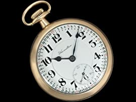 1929 HAMILTON 21J 992 RAILROAD POCKET WATCH - 10K Gold Filled