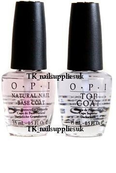 OPI, Set di base per smalto effetto unghie al naturale e Top Coat, 15 ml